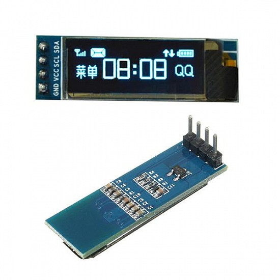 0.91 Inch 128×32 OLED Display Module with I2C/IIC Serial Interface