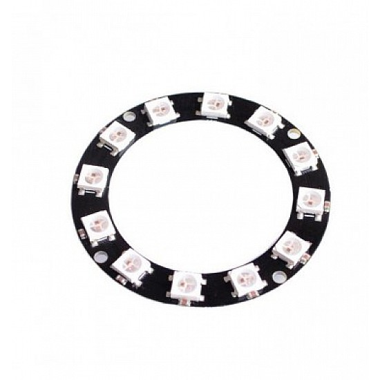 12Bit WS2812 5050 RGB LED Built-in Full Color Driving Lights Circular Development Board