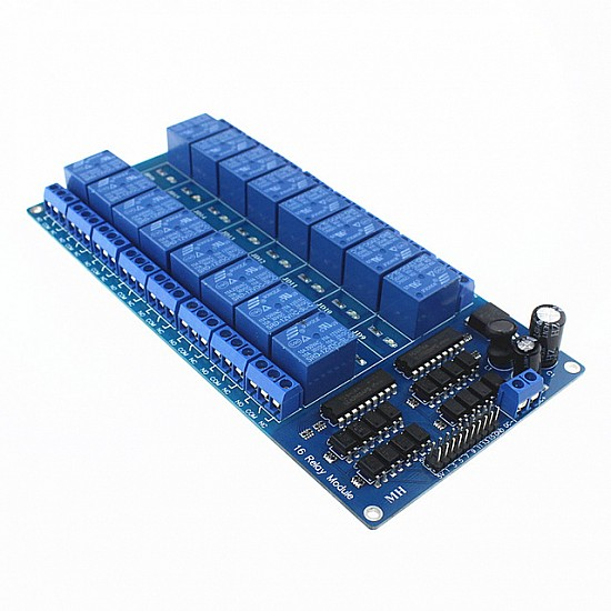 12V 16 Channel Relay Module with Light Coupling LM2576 Power Supply