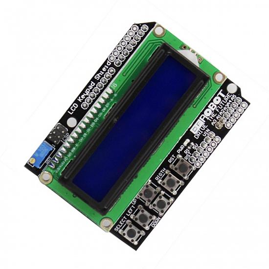 1602 LCD Keypad Shield Blue Backlight for Arduino