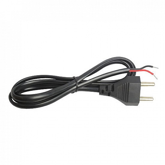 2 Pin Power Cord with Open Ended Cable