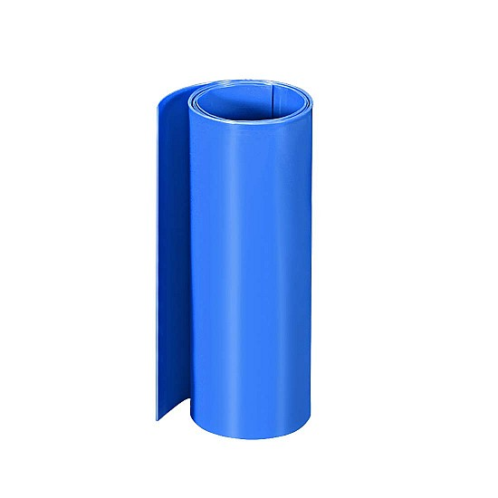 230mm 1-Meter PVC Heat Shrink Sleeve Blue for Lithium Cell Pack