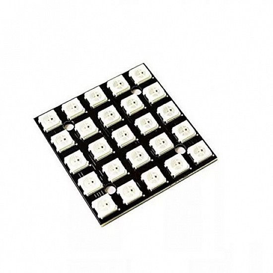 25Bit WS2812 5050 5x5 Digit RGB LED Built-in Full Color Driving Lights Development Board
