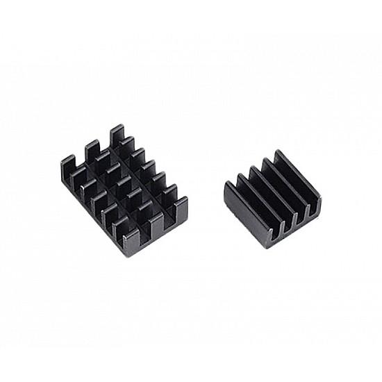 3 in 1 Black Aluminum Heatsink for Raspberry Pi 3/4