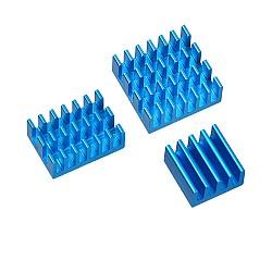 3 in 1 Blue Aluminum Heatsink for Raspberry Pi 3/4