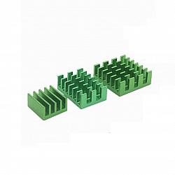 3 in 1 Green Aluminum Heatsink for Raspberry Pi 3/4