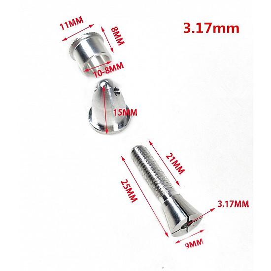 3.17mm  RC Aluminum Bullet Propeller Adapter Holder for Brushless Motor