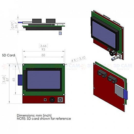 3D printer 128×64 Smart LCD controller for ramps 1.4 - 3D Printer and Accessories