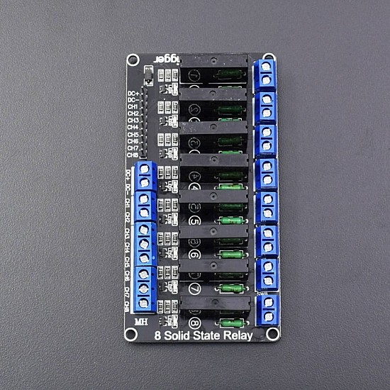 5V 2A 8 Channel SSR Solid State Relay Module with Fuse