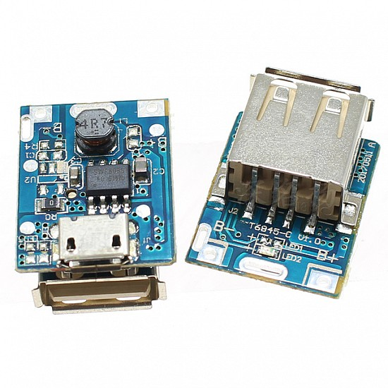 5V Step-Up Power Module Lithium Battery Charging Protection Board USB