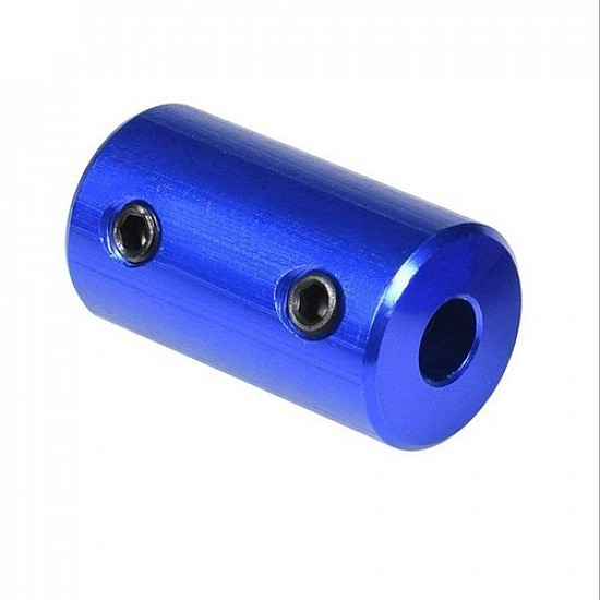 5x5mm Blue Aluminum Alloy Coupling for 3D Printers and CNC Machines