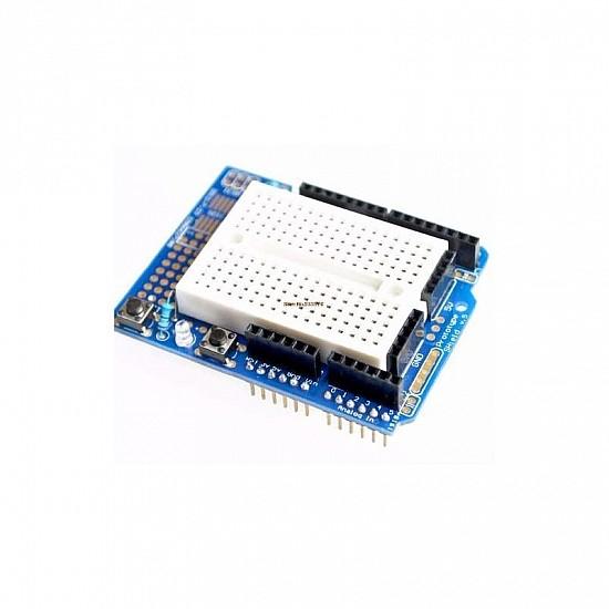 Arduino Uno Protoshield + Mini Breadboard Sensor Arduino