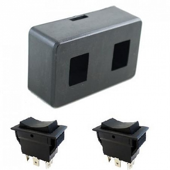 Robotic Switch Box with 2 DPDT Switch - Robot Spare Parts -