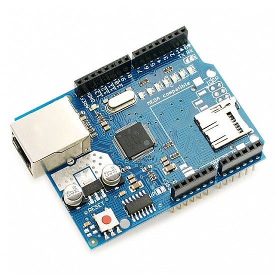 Ethernet W5100 Shield Network Expansion Board w/ Micro SD Card Slot for Arduino -  -