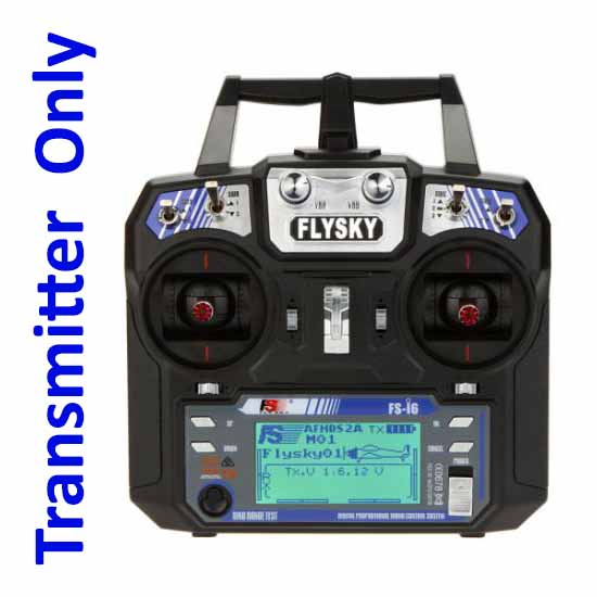 FlySky FS-i6 2.4G 6CH AFHDS RC Radion Transmitter for RC FPV Drone - Mode 2 (Left Hand Throttle) - Rc Remote - Multirotor