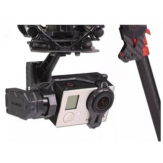 Tarot 3 Axis Gimbal T4-3D Dual Shock Absorber PTZ for Gopro Hero4 3+ 3 FPV  RC Drone TL3D02 FPV
