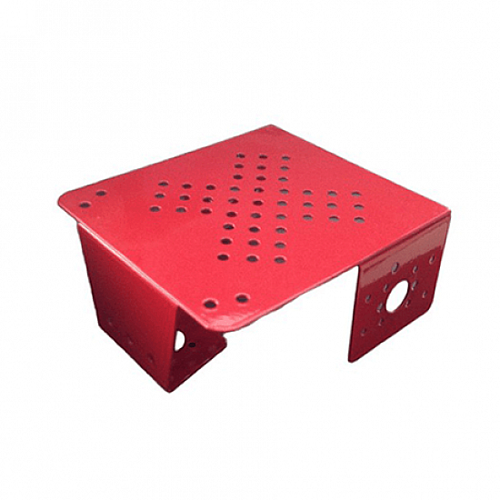 Advance Metal Chassis Small Red Colour - Robot Spare Parts -