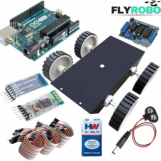 Bluetooth and mobile control car beginner kit