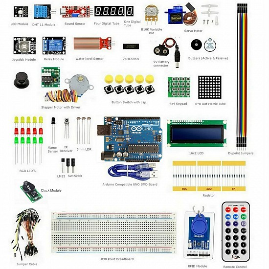 Arduino RFID Learning Kit V4 with Instruction CD & UNO R3
