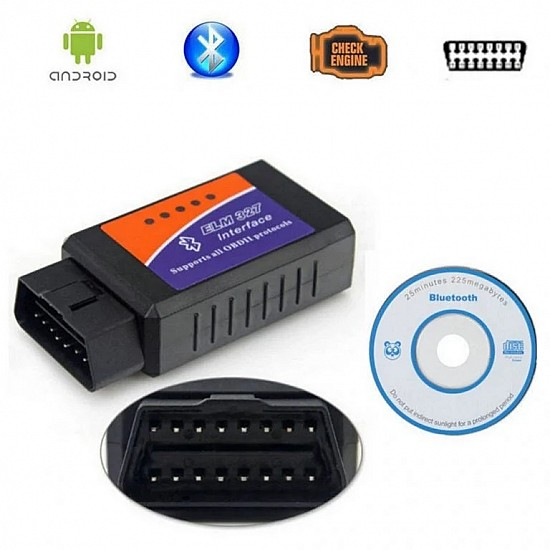 Bluetooth Interface ELM-327 OBD-II V2.1 Auto Car Diagnostic Scanner
