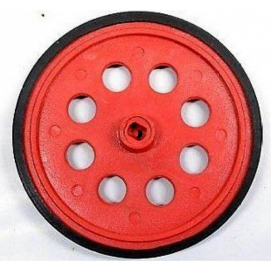 BO Gear Motor Wheel - Red - Robot Spare Parts -