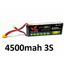4500mah 11.1v 30C 3S Build Power Lipo Battery