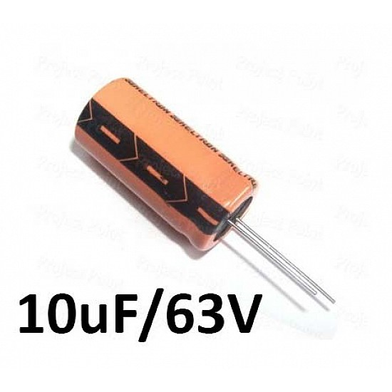 10uf / 63v Electrolytic Capacitor - Capacitors - Core Electronics