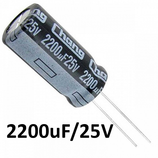 2200uf / 25v Electrolytic Capacitor - Capacitors - Core Electronics