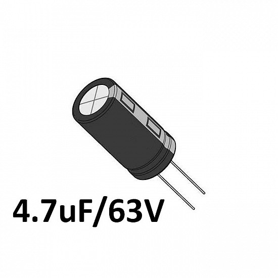 4.7uf / 63v Electrolytic Capacitor - Capacitors - Core Electronics