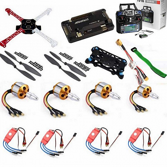 Quadcopter Drone Combo with APM 2.8 Kit for beginner (Motor + ESC + Propeller + Flight Controller + Frame + TX-RX Flysky FSi6+ Power module + Belt)