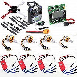 Quadcopter Drone Combo Kit for beginner (Motor + ESC + Propeller + Flight Controller + Frame + TX-RX flysky fsi6)
