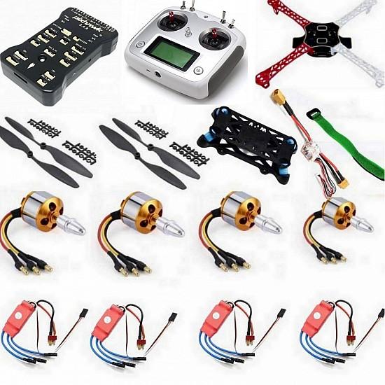 Quadcopter Drone Combo with Pixhawk Kit for beginner (Motor + ESC + Propeller + Flight Controller + Frame + TX-RX Flysky FSi6s+ Power module + Belt) - Multirotor -