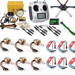 Hexacopter Drone Combo with DJI NAZA V2 and 10ch FlySky FS-I6S (Motor + ESC + Propeller + Flight Controller + Frame + TX-RX Flysky FSi6 + Belt)