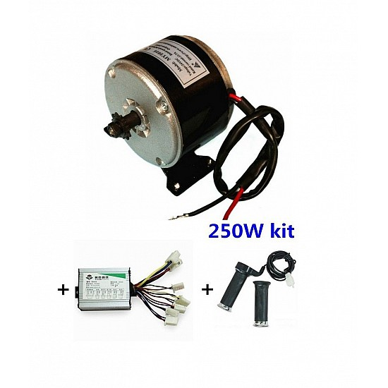 MY1016 250W Motor + Motor Controller + Twist throttle for DIY ELECTRIC BICYCLE KIT - E-Bike -