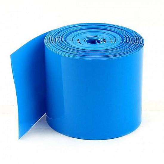 128mm 1-Meter PVC Heat Shrink Sleeve Blue for Lithium Cell Pack