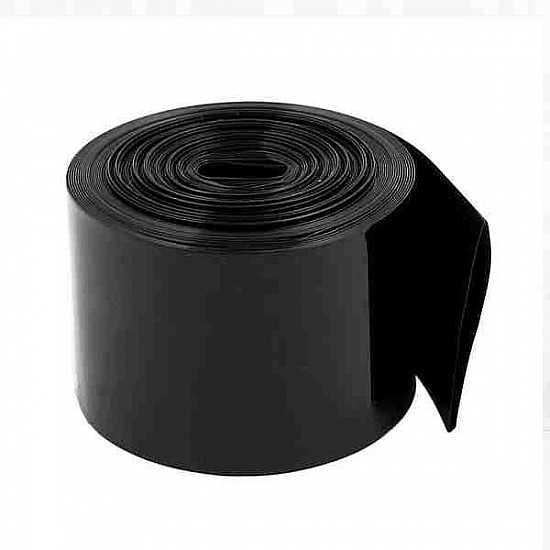 48mm 1-Meter PVC Heat Shrink Sleeve Black for Lithium Cell Pack