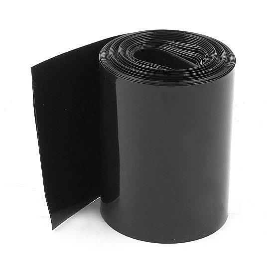 128mm 1-Meter PVC Heat Shrink Sleeve Black for Lithium Cell Pack - Other -