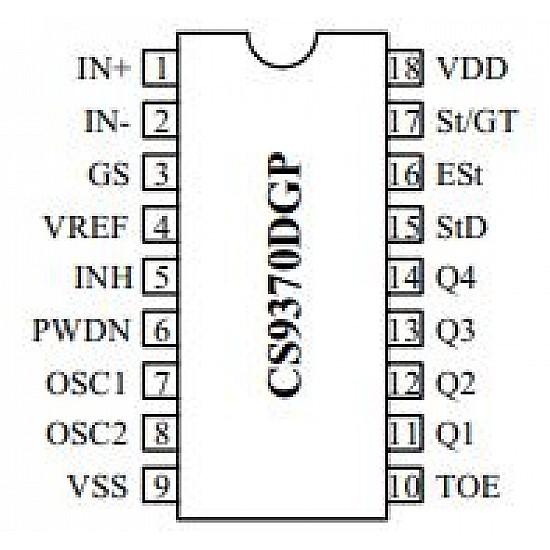 CS9370DGP DTMF decoder chip dual-tone multi-frequency - ICs - Integrated Circuits & Chips - Core Electronics