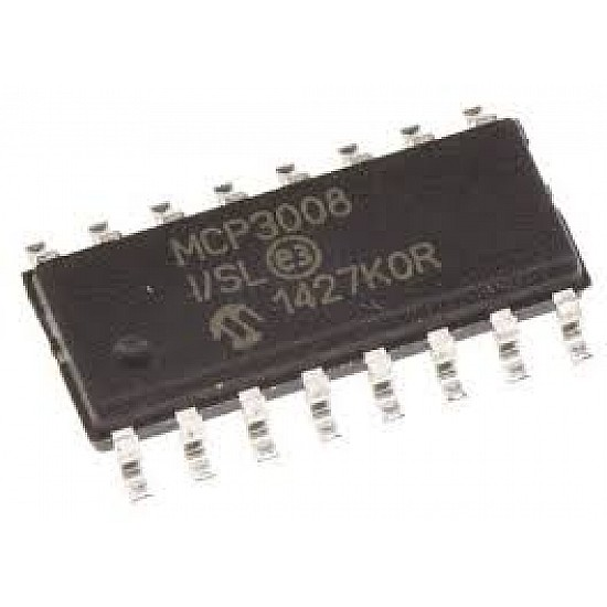 MCP3008 IC - (SMD Package) - 8-Channel 10-Bit ADC With SPI Interface IC - ICs - Integrated Circuits & Chips - Core Electronics