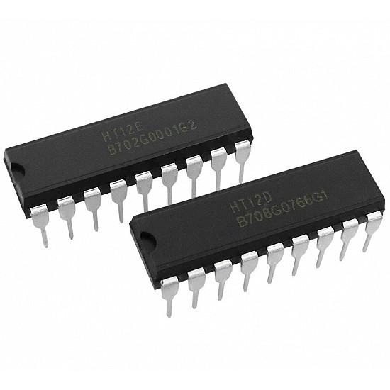 HT12E & HT12D  RF Decoder ICs - Encoder/Decoder IC Pair - ICs - Integrated Circuits & Chips - Core Electronics