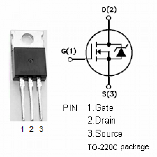 IRFZ44N Power MOSFET - ICs - Integrated Circuits & Chips - Core Electronics