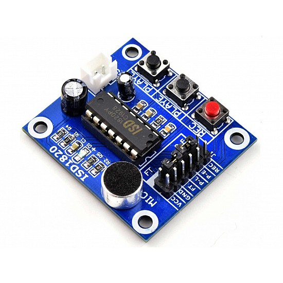 ISD1820 Recording Module Voice Board With On Board Mic and Loud Speaker