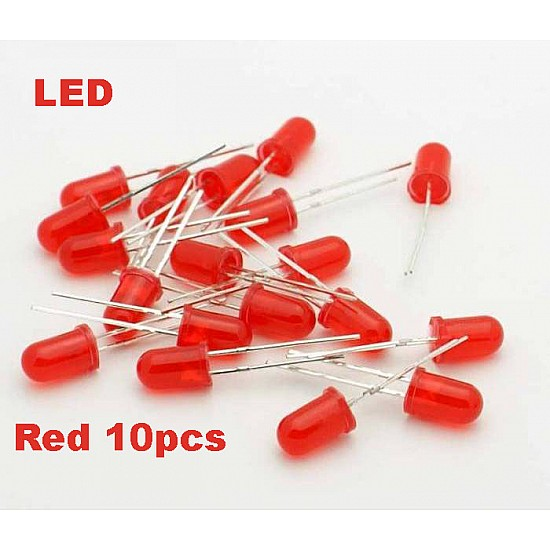 Red LED 5mm Pack Of 10  (Light Emitting Diod) - Other -