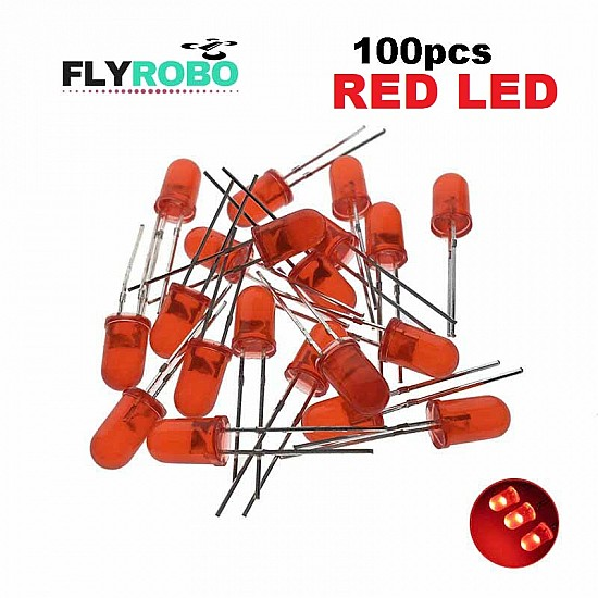 Red LED 5mm Pack Of 100  (Light Emitting Diod) - Other -
