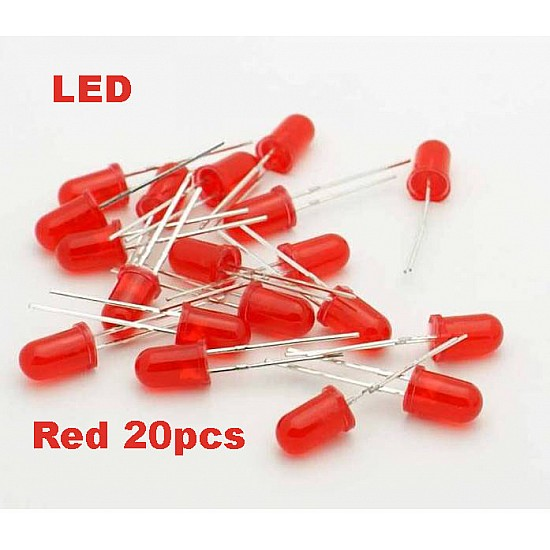 Red LED 5mm Pack Of 20  (Light Emitting Diod) - Other -