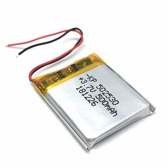 3.7v 500mAh Lipo Rechargeable Battery (Lithium Polymer) - Battery - Arduino