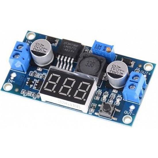 LM2577 3A DC-DC Step Up LED Voltmeter Adjustable Boost Converter module