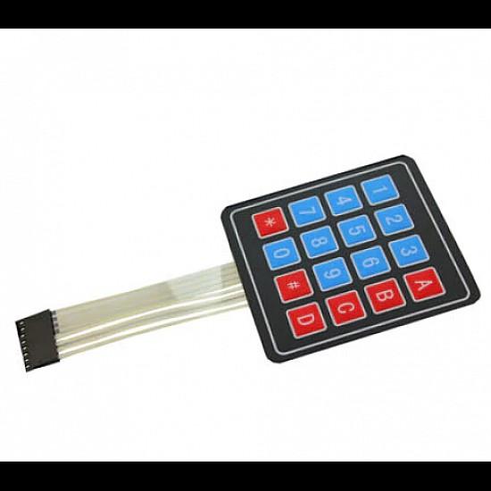 16 Keys 4x4 Matrix - Membrane Type Keypad - Sensor - Arduino