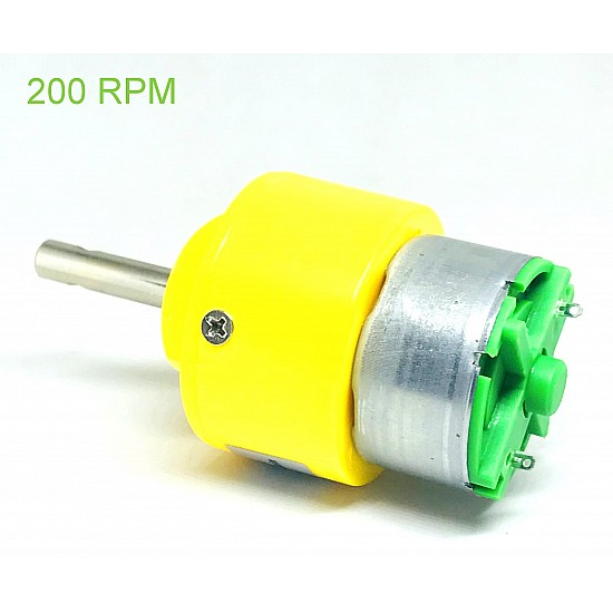 DC 12V 200RPM Metal Geared Motor - DC Gear Motor - Motor and Driver