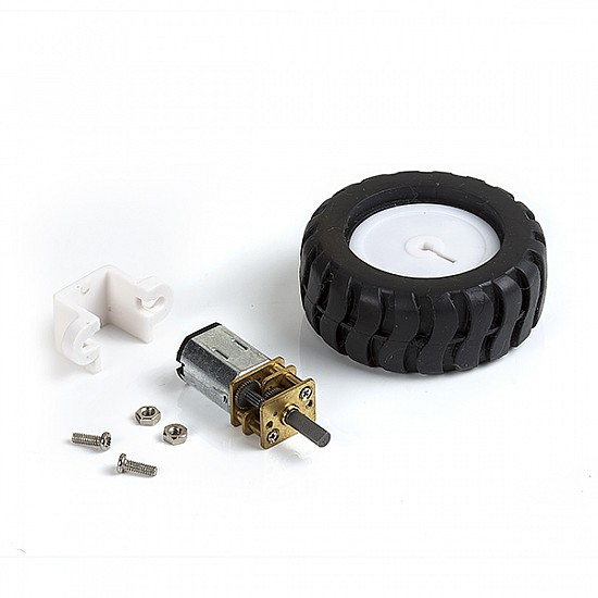 N20 Geared Motor Rubber Wheel Kit
